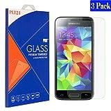[3 Stück] plt24 Samsung Galaxy S5 Mini Panzerglas Glasfolie Schutzfolie Displayschutzglas Schutzglas Hartglas Gehärtetes Glas Bruchsicher Blasenfrei