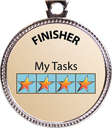 Finisher Award, 1 inch dia Silver Medal 'Special Awards Collection' by Keepsake Awards