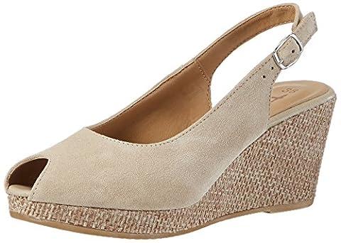 Tamaris 29303, Women's Wedge Heels Sandals, Beige (Nature/rope 381), 7 UK (40 EU)