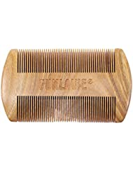 Peigne Barbe double-face en bois de santal bois de peigne à moustache fin pour message Cadeau Barbe pour Homme ou Papa Vente par FUNLAVIE