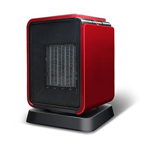 HAIZHEN Radiateur électrique Chauffage Électrique Mini Muet Swing Fièvre Céramique PTC Économie d'énergie (Couleur : Rouge)