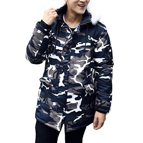 Männer Militär Kapuzenjacke CLOOM Tarnung Steppjacke Verdickung Mantel Britisch Baggy Fliegerjacke Klassisch Plüsch Sportjacke Winddicht Jacke Mit Stehkragen Bequem Freizeitjacken (5XL, Camouflage) (Britische Kleidung)