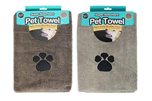Super saugfähige Mikrofaser-Handtücher für Hunde, 2Stück