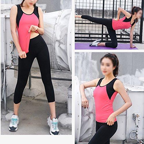ZCJB La Primavera E L'estate Vestiti Di Yoga Tuta Sportiva Palestra Jogging Maglia Asciutta Rapida Pantaloni Sottile Abbigliamento Fitness Femminile ( Colore : Arancia , dimensioni : S. ) Rose Red