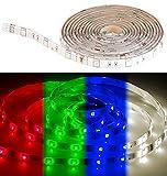Luminea Zubehör zu Smarthome-LED-Strip: RGBW-LED-Streifen LAX-206, 2 m, 240 Lumen, warmweiß, dimmbar, IP44 (LED-Streifen zur Dekoration)
