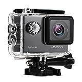 MGCOOL Caméra Sport 4K / 30fps WiFi Full HD Sony 16MP Action Cam Étanche 30M, 170 °Grand Angle, 2.0' LCD Ecran, avec Une Batteries 1050mAh Rechargeables et 8 Accessoires Pour Sports Extrêmes, Ski, Vélo, Sous l'Eau,Voyage - Noir