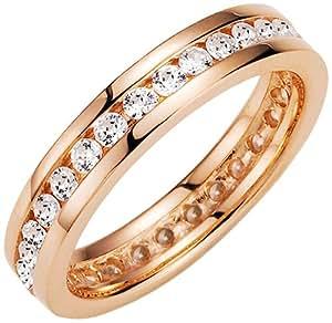 Spirit - New York Damen-Ring Silber vergoldet Zirkonia roségold Gr.54 (17.2) 93004197540