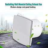 Ventilatore estrattore, Estrattore di ventilazione Montabile a parete per la cucina Sistema di ventilazione Private del soffitto del bagno