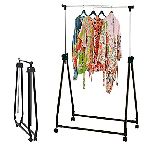 Top Home Solutions® Collapsible Portable Adjustable Clothes (Piegare I Vestiti Rack)