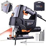 TACKLIFE Scie Sauteuse 800W, Hauteur de Course 22mm, 800-3000SPM, Équipé Guide de Laser et...