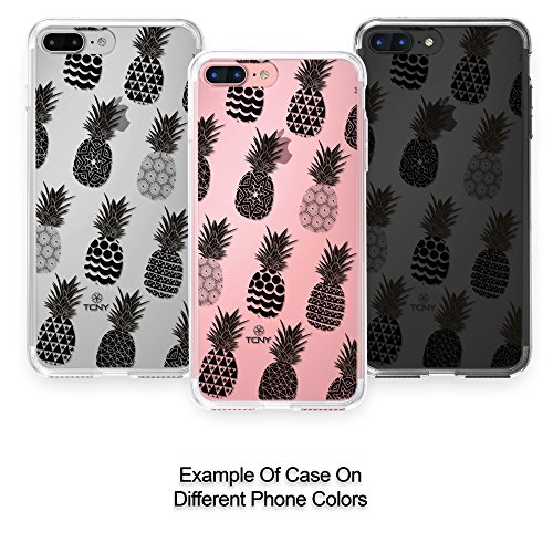 True Color Watercolor CLEAR Shield Tribal Ornamental Pineapples
