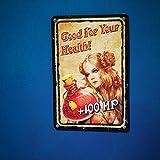 getDigital Blechschild Lebensenergie Good for Your Health | Metallschild, Dekoschild, Wandschild, Poster für Rollenspieler, Gamer und Nerds | 20x30cm