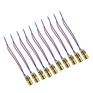 Aihasd 10PCS 5V Laser Head Diode Dot Module WL Red Mini 650nm 6mm 5mW