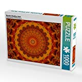 Mandala Buddhas Gold 1000 Teile Puzzle quer