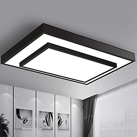 LYXG Rettangolare stanza vivente lampada LED luce da soffitto ferro