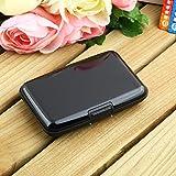 Aluma Wallet Credit Card Holder RFID Blocking - Black Color