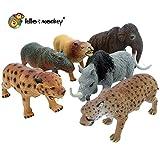 Lello and Monkey La Era de Hielo plástico prehistórico figuras del juguete en bolsas Conjunto de 6