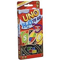 Mattel-UNO H2O To Go H20 Juego de cartas, Multicolor, 7+ (P1703)