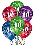 """Palloncini Compleanno in lattice stampa 40 Anni serigrafati Ø cm 28 12"""". Confezione da pz 20 colori pastello assortiti. I nostri palloncini sono adatti per il gonfiaggio ad elio ed aria. I palloncini vengono spediti sgonfi. Palloncini 100% biodergada..."""