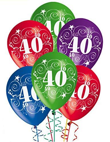 Globos de cumpleaños para celebrar 40 años, . Decoraciones para fiestas, paquete . Confección de 20 piezas.