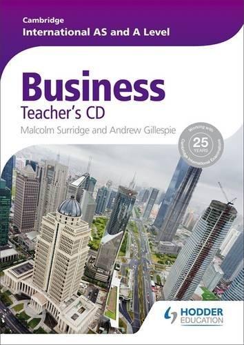 Cambridge International AS and A Level Business Studies Teacher's CD (Cambridge Intl As/a Level) by Malcolm Surridge (2014-03-28)