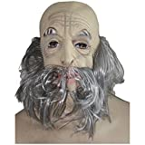 Vollmaske Landstreicher mit Bart und grauen Haaren Opa Greis