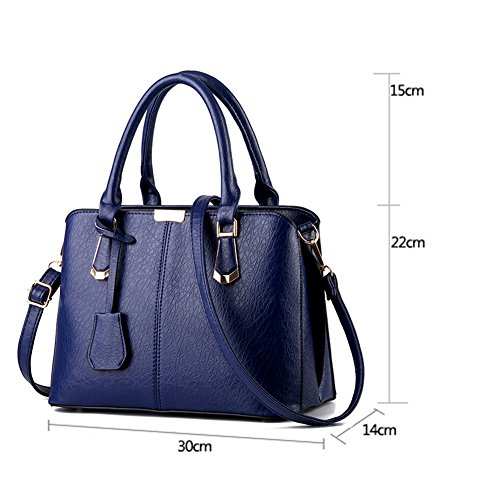 FunYoung signore borsa tracolla borsa a tracolla borse manico in pelle PU Blu_B Salida Footlocker Fotos Comprar Barato En Línea Bajo Coste De Envío 5ZgKiB7B