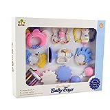 Baby Rassel Beißring Spielzeug Set–wishtime neuesten Baby Spielzeug für Infant inkl. 9Stück didderent Rassel Beißring mit bezauberndem Farbe, beste und Fantastisches Geschenk