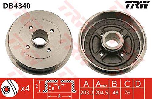 TRW AUTOMOTIVE DB4340 Tamburi Freno Nissan Micra
