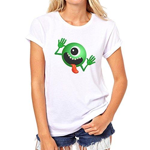 Alien Space Extraterrestrial UFO Crazy Damen T-Shirt Weiß