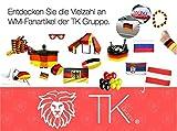 XXL Deko Dekoration Set Fanartikel Deutschland Tischdeko Tischdekoration 20x Servietten, 15 x Bierdeckel, 3x Partypopper, 1x Girlande Wimpelkette, 2x Klatschstangen, 3x Luftschlangen - 5