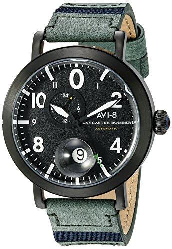 Giacca da uomo avi-8av-4038-02Lancaster Bomber analogico display giapponese orologio automatico verde
