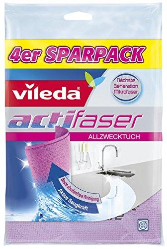 Vileda Actifaser Allzwecktuch, reinigungsstarkes Microfasertuch, im 4er-Pack (4 x 4 Stück) -