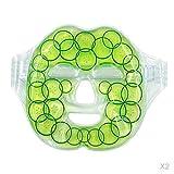 Fenteer 2pcs Hot Cold Gel Gesichtsmaske Kälte Wellnessmaske Entspannungsmaske für Gesichts und Augen
