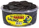 Haribo Salino Réglisses, Bonbons à la Réglisse, 150 Pièces, Boîte de 1200 gr