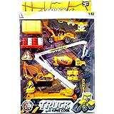 Die Cast Metal Construction Truck Play Set 20 Pcs