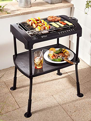 """BBQ Barbeque Elektro-Standgrill\""""Cool-Touch\"""" Elektrischer Grill Elektrogrill Balkon Standgrill/Tischgrill"""