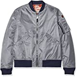 Schott NYC Herren Jktac Bomber Jacke, Grau (Grey 91), X-Large