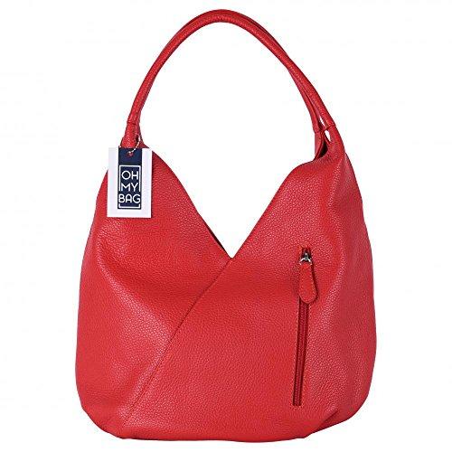 OH MY BAG Sac à Main CUIR grainé femmes porté main et épaule Modèle Mandalay - SOLDES
