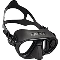 Cressi Calibro Professional Scuba Diving Freediving Mask with Anti Fog Technology, Black, One Size