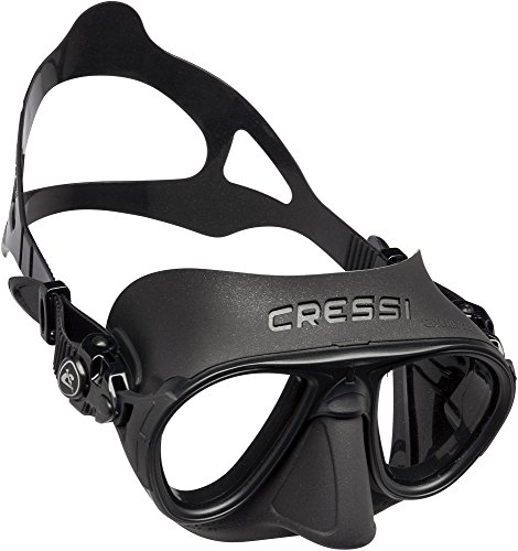 Cressi Erwachsene Calibro Tauchmaske, Schwarz, Uni