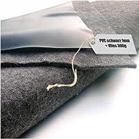 Teichfolie PVC 1mm schwarz in 6m x 7m mit Vlies 300g/qm