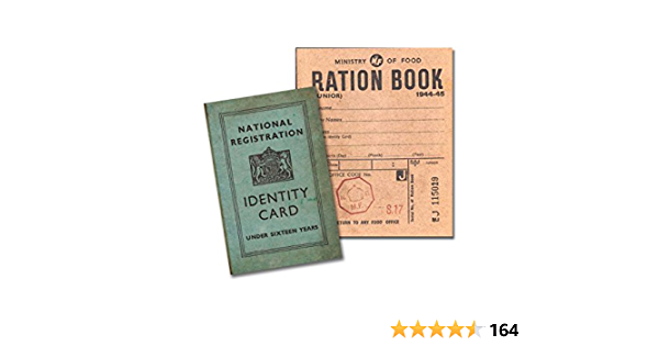 1940/'s-History-Wartime Memorabilia-Ration Book-ID Card-KIDS SET School Projects