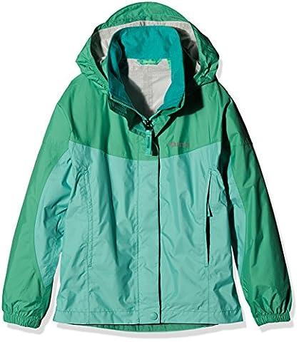 Marmot Mädchen Precip Jacket Regenjacke, Celtic/Turf Green, M