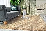 SESO UK-CAR Nordic Moderne Teppich Weichen Bequemen Feine Rutschfeste Große Polyester Teppich für Schlafzimmer Wohnzimmer Dekoration Dicke -3,2 cm (Farbe : Crab Powder Yellow, Größe : 160x230cm)