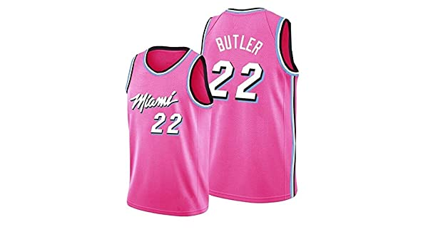Gflyme Nba Jerseys Nba Miami Heat Jersey No 22 Butler Men S Sports T Shirt Herrono 14 Embroidered Basketball Jersey Color Pink 22 Size Xxl Amazon Co Uk Kitchen Home