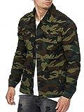 MADDU Herren Camouflage Jacke Übergangsjacke Sommer Herbst Frühling Army Khaki 2018 (XL)