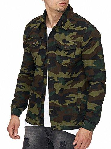 7670a2d65132 MADDU Herren Camouflage Jacke Übergangsjacke Sommer Herbst Frühling Army  Khaki 2018 (L)