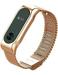1ccbd6b7a366 COOSA Moda de acero inoxidable cinturón correa de la muñeca con marco de  metal Wristband pulsera