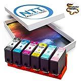 NTT 6er XL-Set Druckerpatronen als Ersatz für Epson 378 E-378 Tintenpatronen für Epson Expression Photo XP-15000 XP XP-8500 XP-8505 (1 Schwarz,1 Cyan,1 Magenta,1 Yellow,1 Light Cyan,1 Light Magenta)